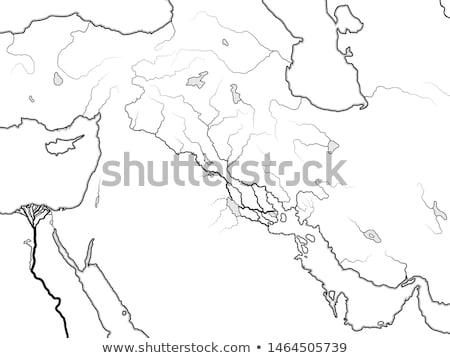 Világtérkép völgy Irak Szíria Örményország Közel-Kelet Stock fotó © Glasaigh