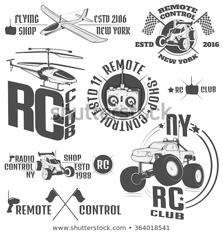 Vintage radio controlled toys emblems Stock photo © netkov1
