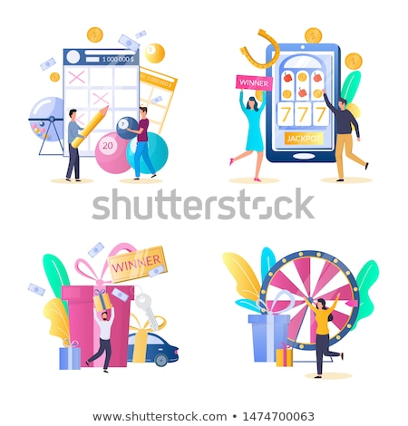 Person with Machine in Casino, Gambling Vector Stock photo © robuart