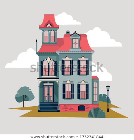 Haus Fassade Illustration Gebäude Landschaft home Stock foto © Dazdraperma