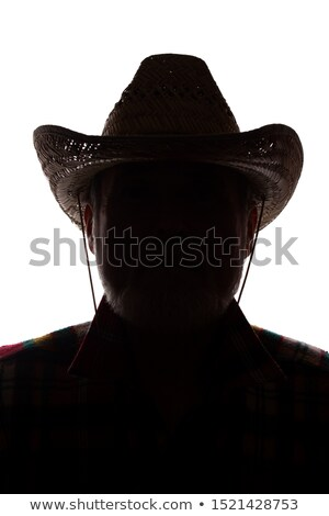 classic male cowboy portrait in front of a white background Stock photo © Lopolo