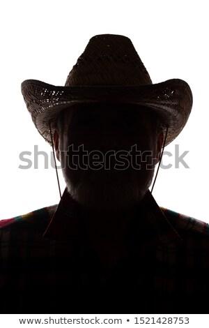 Clássico masculino vaqueiro retrato branco homem Foto stock © Lopolo