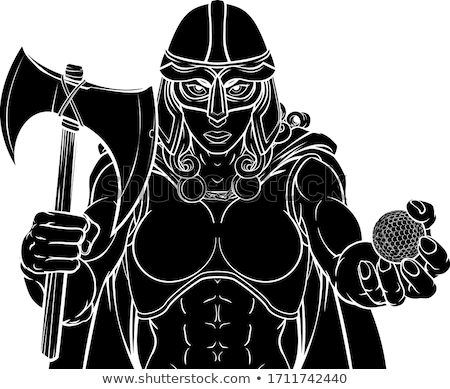Viking vrouwelijke gladiator golf krijger vrouw Stockfoto © Krisdog