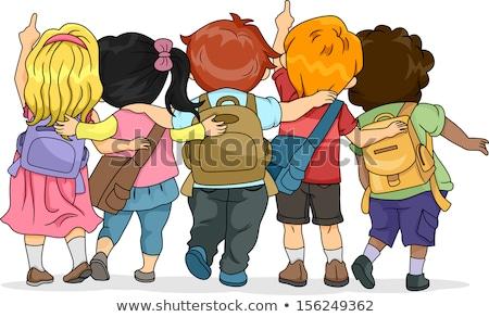 boy student back to school cartoon illustration Stock photo © izakowski