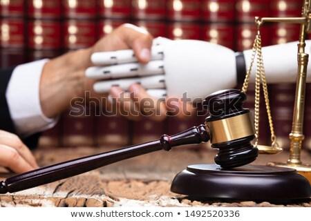 Robô aperto de mãos juiz gabela secretária Foto stock © AndreyPopov