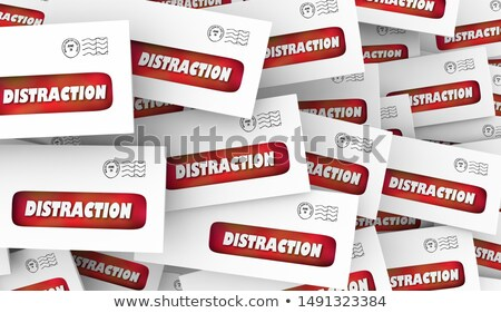 Distraction Annoying Direct Mail Junk Envelopes 3d Animation Stock photo © iqoncept