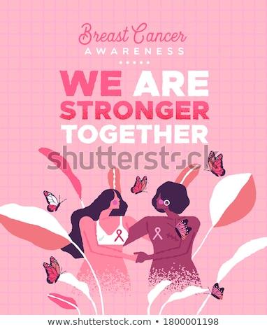 текста стороны карт розовый Рак молочной железы Сток-фото © wavebreak_media