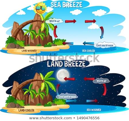 Ciencia anunciante diseno tierra brisa ilustración Foto stock © bluering