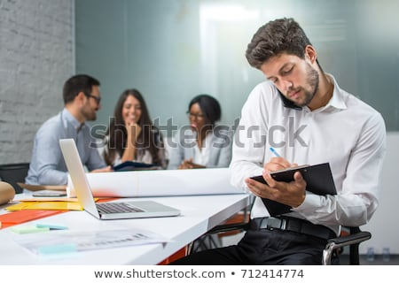 менеджера говорить телефон занят люди старший Сток-фото © lichtmeister