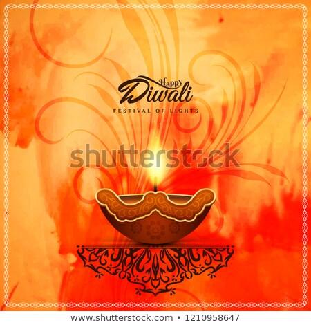 decorative indian dhanteras festival card ethnic design Stock photo © SArts