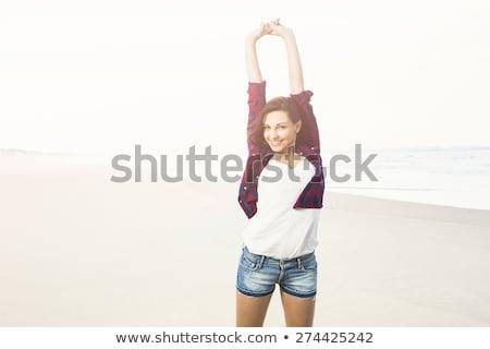 belleza · ojos · azules · adolescente · disfrutar · día · de · verano · cute - foto stock © lopolo