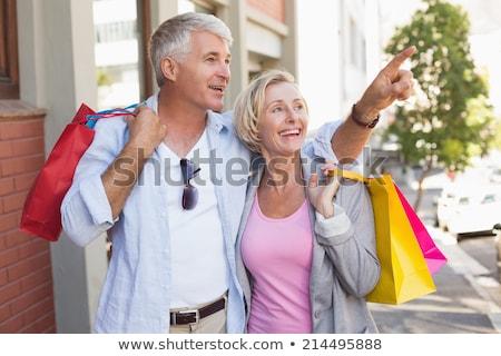 Elöl kilátás aktív idős férfi nő Stock fotó © wavebreak_media