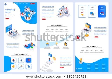Móvel colaboração bandeira empresários Foto stock © RAStudio