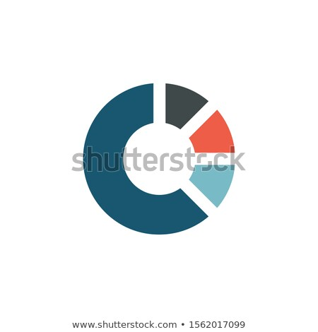 Letter C logo design circeled like round business infographic pie or chart. corporate identity. geom Stock photo © kyryloff