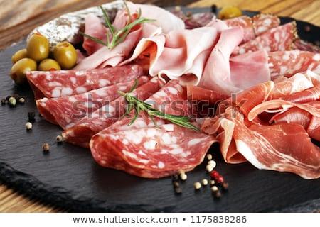 Fresh cold cuts platter Stock photo © grafvision
