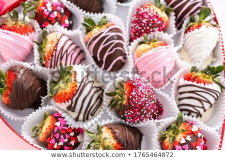 клубники · шоколадом · свежие · чипов · фрукты · лет - Сток-фото © CarmenSteiner