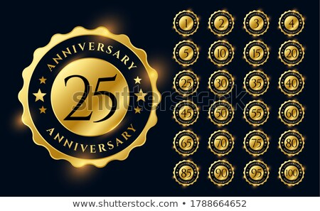 premium golden anniversary logotype emblem big set Stock photo © SArts