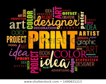 Advertising Solution - Word Cloud with Copy Space. Stock photo © tashatuvango