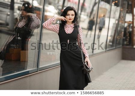 Kadın aşağı sokak Paris kadın alışveriş Stok fotoğraf © ElenaBatkova
