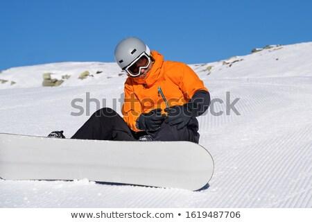 Naar gewond knie jonge man snowboarden Stockfoto © AndreyPopov