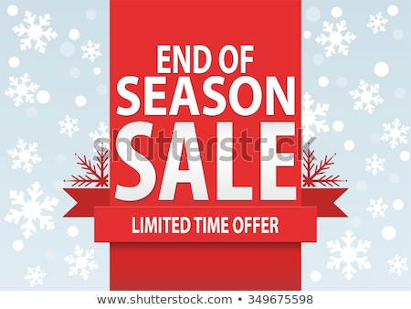 Final Sale and Big Discount Promotion, Xmas Vector Stock photo © robuart
