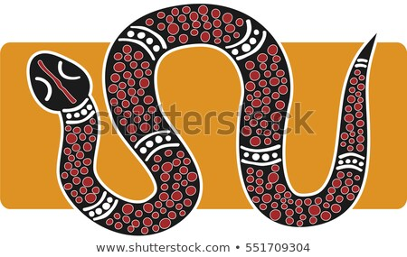Snake. Aboriginal art style. Stock photo © ColorHaze
