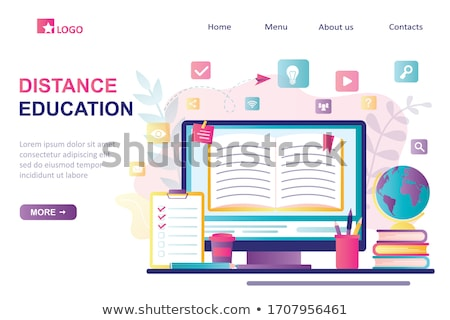 Online Courses Web Landing Page, Home Education Stock photo © robuart