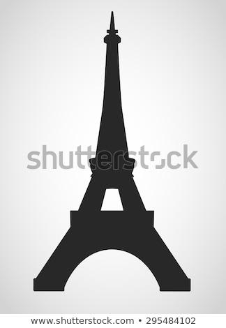 Ilustración Eiffel Tower árbol aves parque Foto stock © ShustrikS