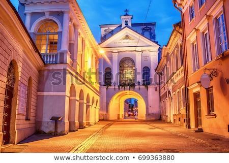 Poort dawn Vilnius Litouwen scherp stad Stockfoto © borisb17