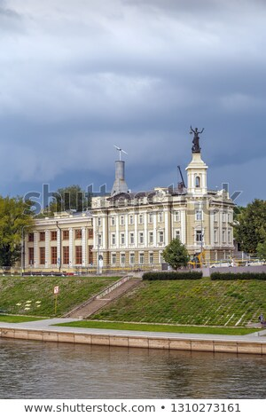 реке Вильнюс Литва здании путешествия облаке Сток-фото © borisb17