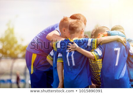 Group of Junior Sports Soccer Player Standing with Coach Stock photo © matimix