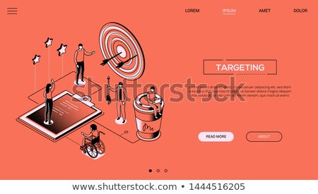 Efficient teamwork - colorful line design style web banner Stock photo © Decorwithme