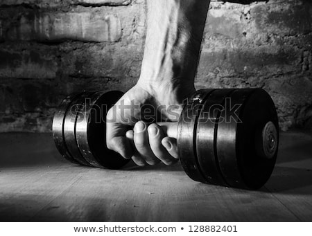 Man barbell gewicht gymnasium sport Stockfoto © dolgachov