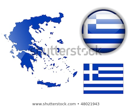 flag of greece icon vector outline illustration Stock photo © pikepicture