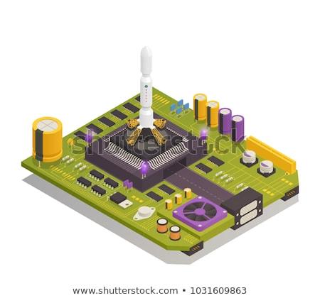 Vector isometric rocket launch complex Stock photo © tele52