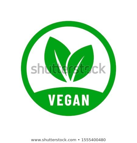 Vegan vektör ikon örnek tasarım şablonu doğa Stok fotoğraf © Ggs
