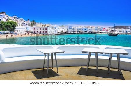 Wyspa portu łodzi Grecja widoku Zdjęcia stock © dmitry_rukhlenko