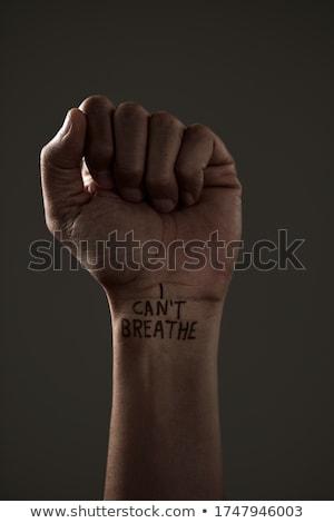 raised fist and text I cant breathe Stock photo © nito