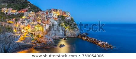 Aldeia noite Itália popular europeu italiano Foto stock © dmitry_rukhlenko