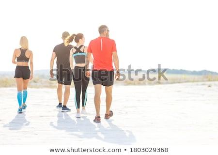 Szlak uruchomić człowiek sportowiec runner uruchomiony Zdjęcia stock © Maridav