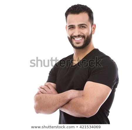 Emiraty człowiek odizolowany biały działalności szczęśliwy Zdjęcia stock © Elnur