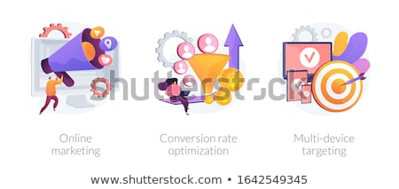 Conversion rate optimization abstract concept vector illustration. Stock photo © RAStudio