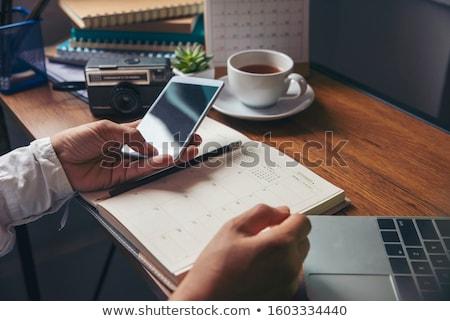 Foto stock: Verificar · fora · datas · negócio · calendário · conceitos