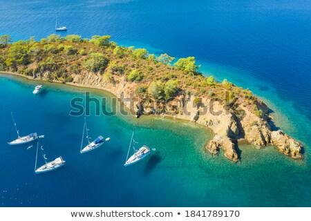 Blauw · middellandse · zee · zeilboot · zeilen · perfect · oceaan - stockfoto © lunamarina
