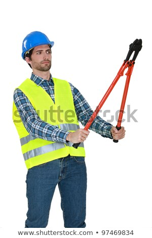 Builder staring at bolt cutters Stock photo © photography33