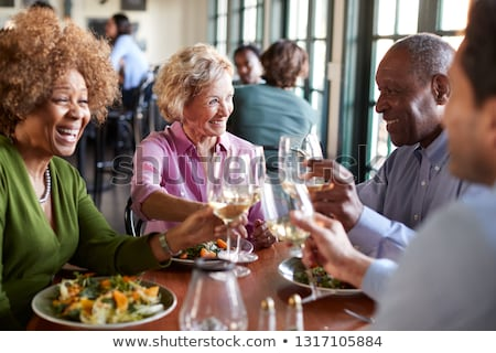 seniors in a restaurant Stock photo © photography33