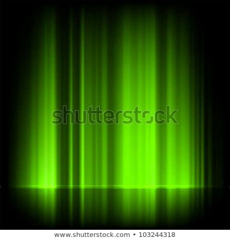 Green northern lights, aurora borealis. EPS 8 Stock photo © beholdereye