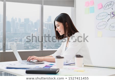 Businesswoman looking at her laptop Stock photo © photography33