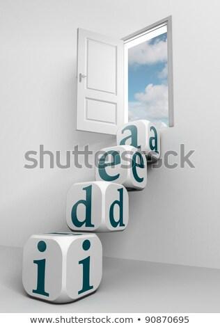 Fresh Idea - Letters And Block Сток-фото © donskarpo