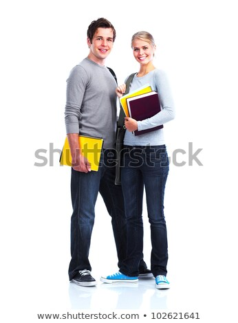 Boy and girl with folders Stock photo © photography33